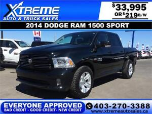 2014 Dodge Ram 1500 Sport *INSTANT APPROVAL* $0 DOWN $219/BW