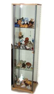 GLASS CURIO CABINET (WITHOUT CONTENTS)