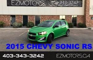 2015 Chevrolet Sonic RS--ONE OWNER--TURBO