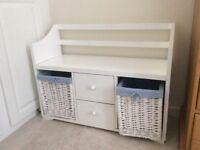 Pretty storage unit/ desk for girl's bedroom
