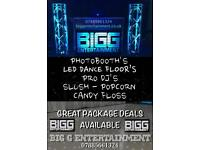 All your entertainment requirements dance floor photo booth dj slush popcorn candy floss weddings