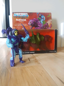 ✠ MASTERS OF THE UNIVERSE SKELETOR PANTHOR CAT SET HE-MAN MOTU ✠