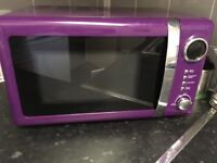 Purple retro microwave