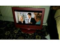 Neon 19 inch screen hd lcd free view and dvd tv £ 25