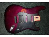 Strat body and scratchplate with humbucker - SSH