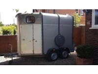 Ifor Williams HB505 horse trailer, Silver