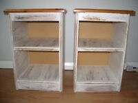 Pair of Pine distressed bedside cabinets