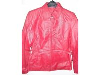 NEW Red Leather Jacket - Size 10