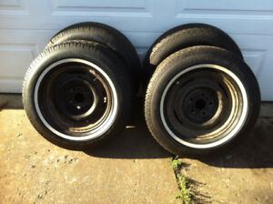 p195/75R14  Michelin Radial tires on Ford Rims - 98 % tread
