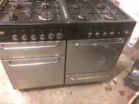 Dual fuel range cooker