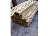 """Tanalised Timber Posts 4"""" x 4"""" (100mm x 100mm) 2.4metres long"""