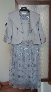 Mother of the Bride Dress (Silver Grey) Size 10