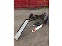Motorbike Trailer With Spare Wheel And Plate Board Great Condition