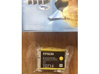 Epson original yellow ink cartridge - model T0714