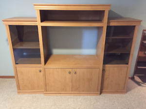 Glass & Wood Entertainment Unit