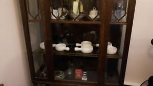 Antique china cabinet all glass over 150 yrs old