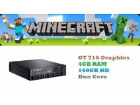 Gaming Media Computer PC ( Duo Core, 4GB, 160GB, GT 710 Nvidia) Minecraft
