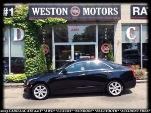 2013 Cadillac ATS *AWD *LUXURY *SUNROOF *BLUETOOTH *ACCIDENT FRE