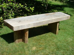 Hand Crafted Live Edge Garden Bench