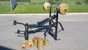 Alex Workout Bench and Weight Set