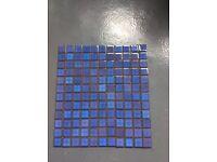 Ceramic mosaic tile sheets