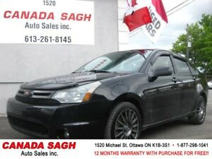 2010 Ford Focus AUTO/LTHR/ROOF, 12M.WRTY+SAFETY $4990