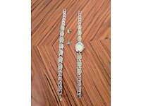 Watch, bracelet and earrings set