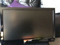 22 logic TVs with built in DVD player and free view wall mount bracket