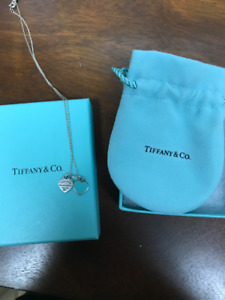 Tiffany & Co. double heart tag necklace
