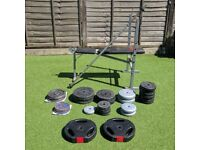 110.25kg Weights and Pro Power Adjustable Weight Bench