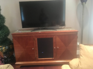 Beautiful Solid Wood Entertainment Cabinet South Surrey