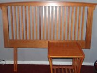 Shaker style double headboard and matching table