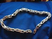 Large men's silver chain