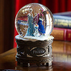 DISNEY STORE FROZEN ELSA ANNA OLAF MUSICAL 'LET IT GO' SNOWGLOBE