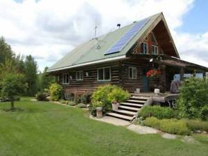 Self Sufficient Log Home on 160 Acres, Pure Serenity