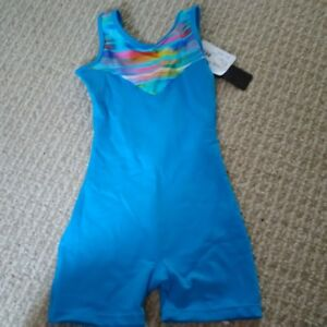 Gymnastics leotard / biketard, brand new with tags