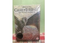 GAME OF THRONES COMPLETE SEASON 1-6 BRAND NEW FACTORY SEALED. UK REGION