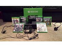 Xbox One 500gb plus 6 Games. ORIGINAL BOX.