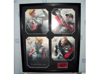 FRAMED ISLE OF MAN TT SIGNED POSTERS