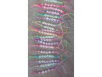 Named personalised keyrings bookbags
