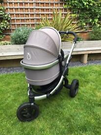 iCandy Peach Jogger Full Travel System Glacier Grey