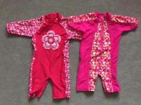 2 girls uv swimsuits age 3-4