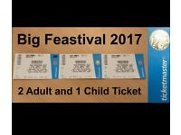 Feastival tickets 2 Adults 1 Child