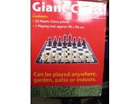 GIANT CHESS INDOOR OR OUTDOOR COMPLETE IN BOX UNUSED