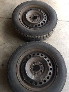 Pair of 15' wintertires and rims for $50