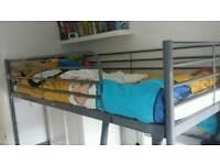 Ikea silver SVARTA bed frame