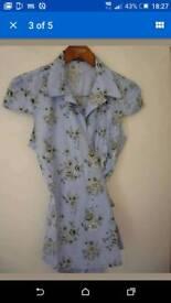 T.M.Lewin women wrap around short, short sleeve,size 12