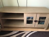 Oak Effect TV stand and side board