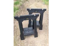 Pair of Stanley Folding Saw Horses - like new