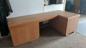 Custom Oak Corner Desk